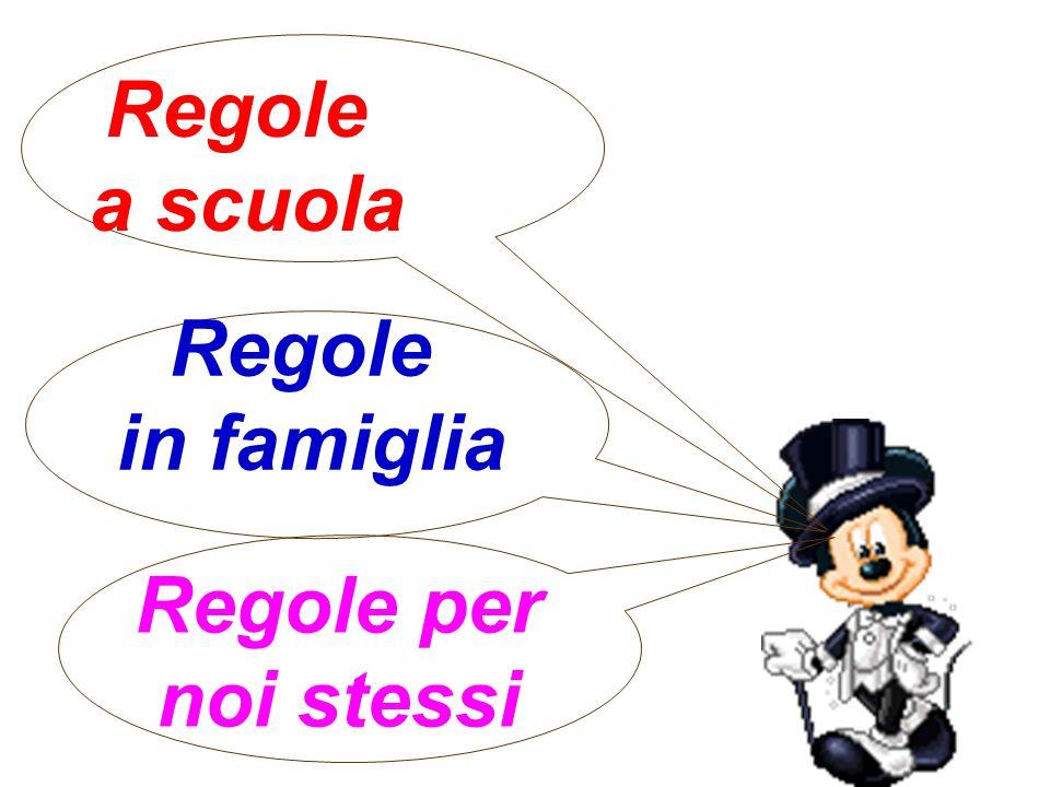 Regole a scuola Regole in famiglia Regole per noi stessi