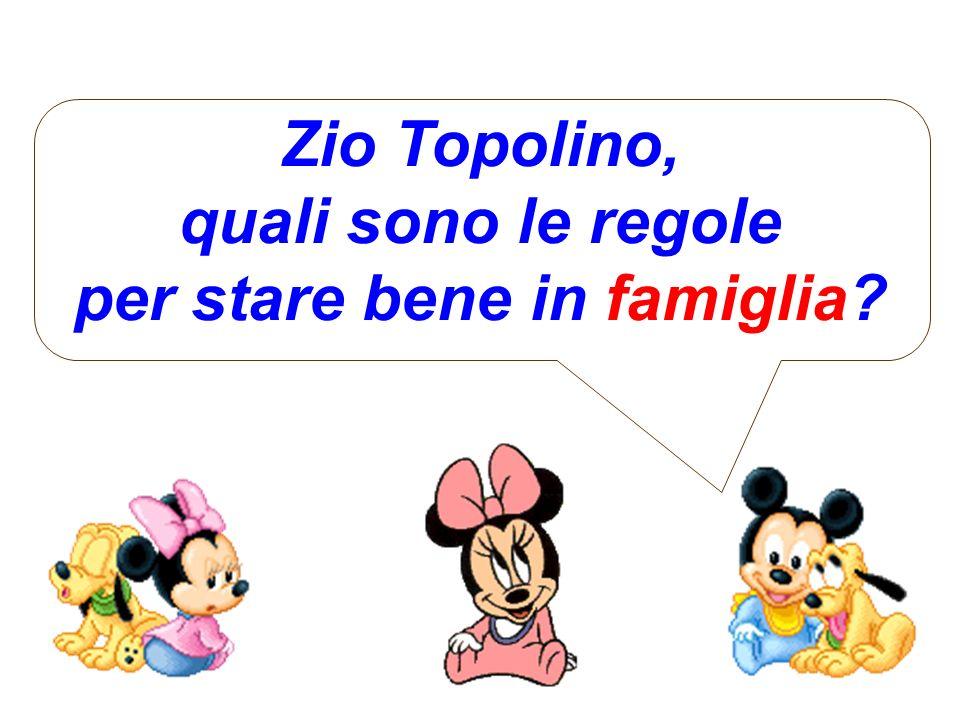 Zio Topolino, quali sono le regole per stare bene in famiglia?