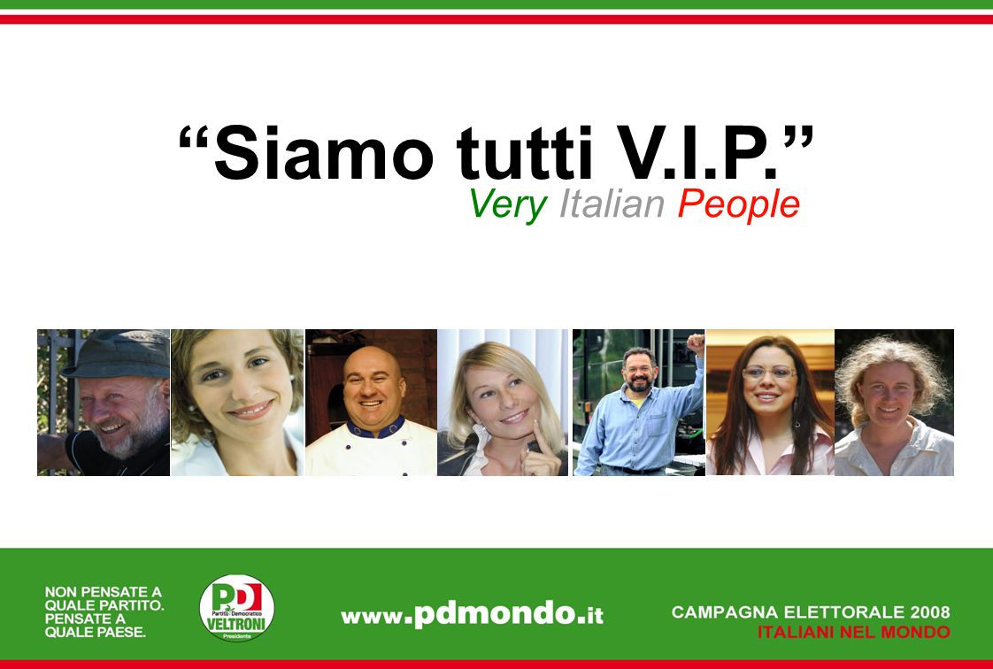 Siamo tutti V.I.P. Very Italian People