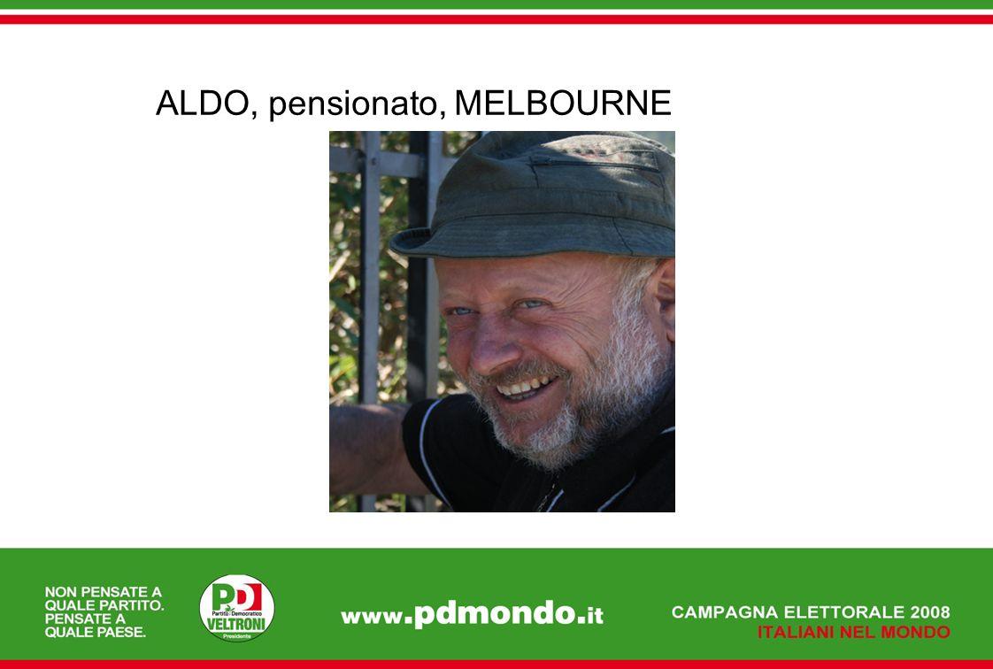 ALDO, pensionato, MELBOURNE