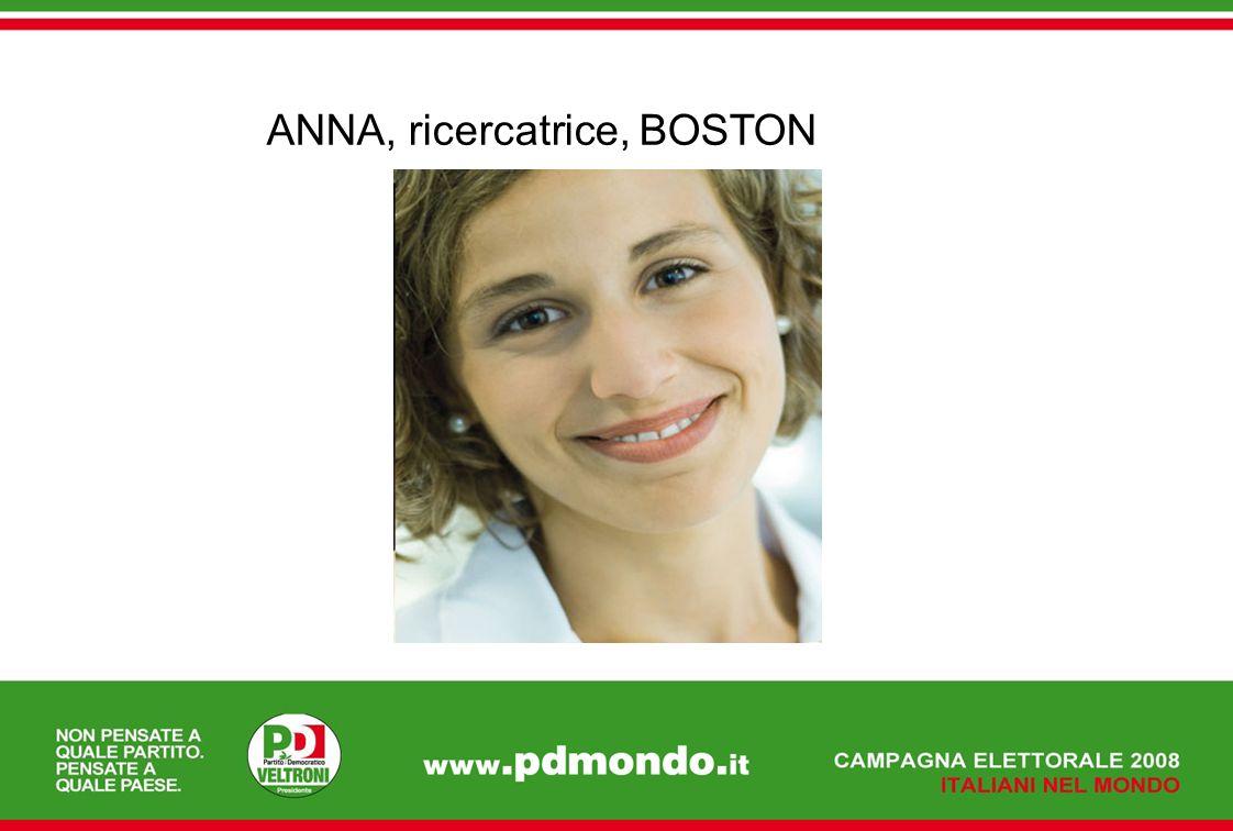 ANNA, ricercatrice, BOSTON