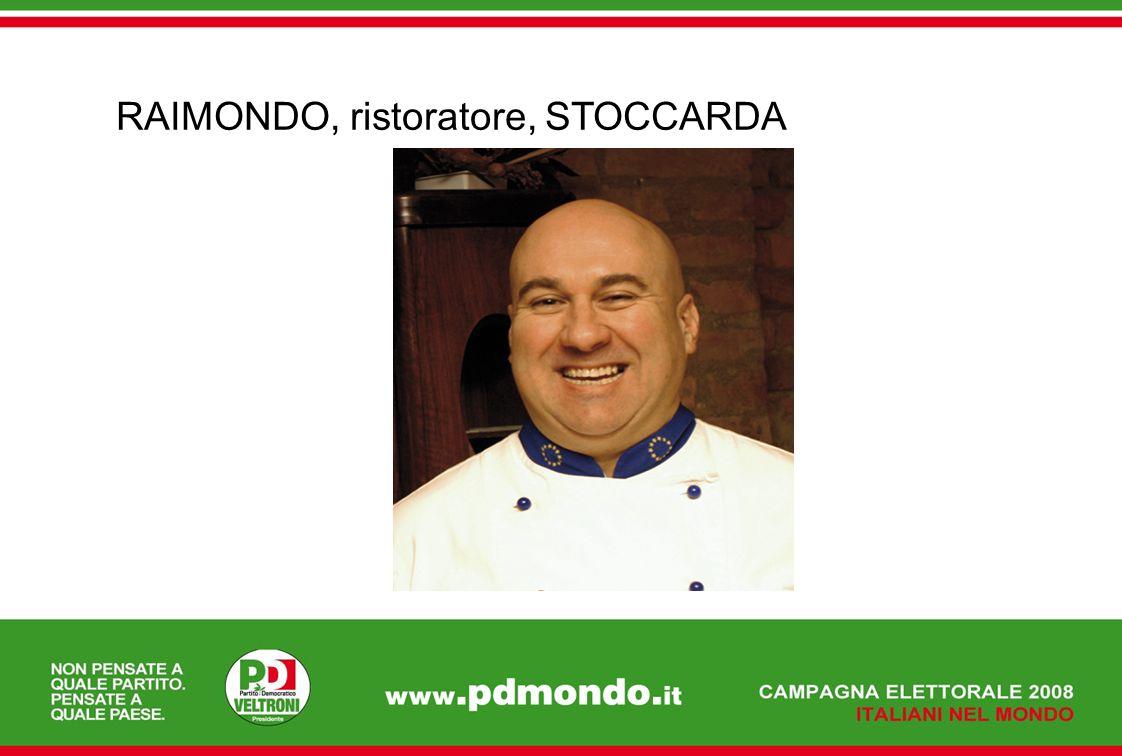RAIMONDO, ristoratore, STOCCARDA