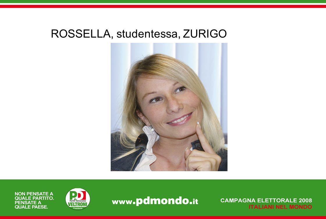 ROSSELLA, studentessa, ZURIGO