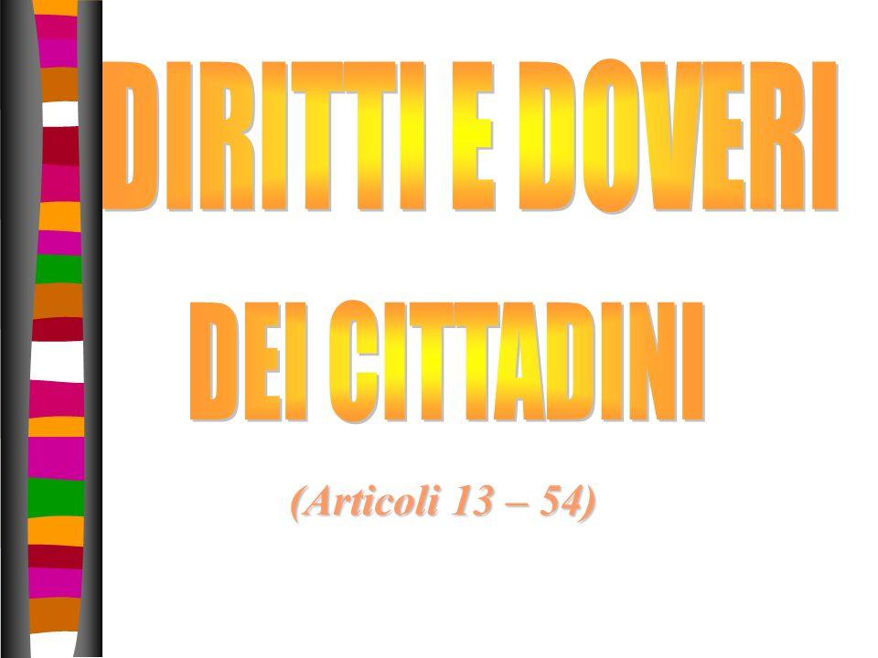 (Articoli 13 – 54)