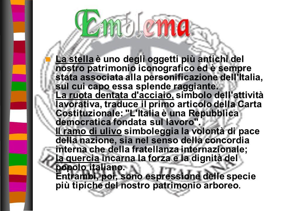 La stella è uno degli oggetti più antichi del nostro patrimonio iconografico ed è sempre stata associata alla personificazione dell'Italia, sul cui ca