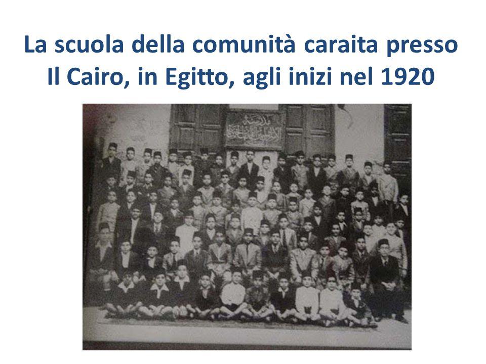 La scuola della comunità caraita presso Il Cairo, in Egitto, agli inizi nel 1920