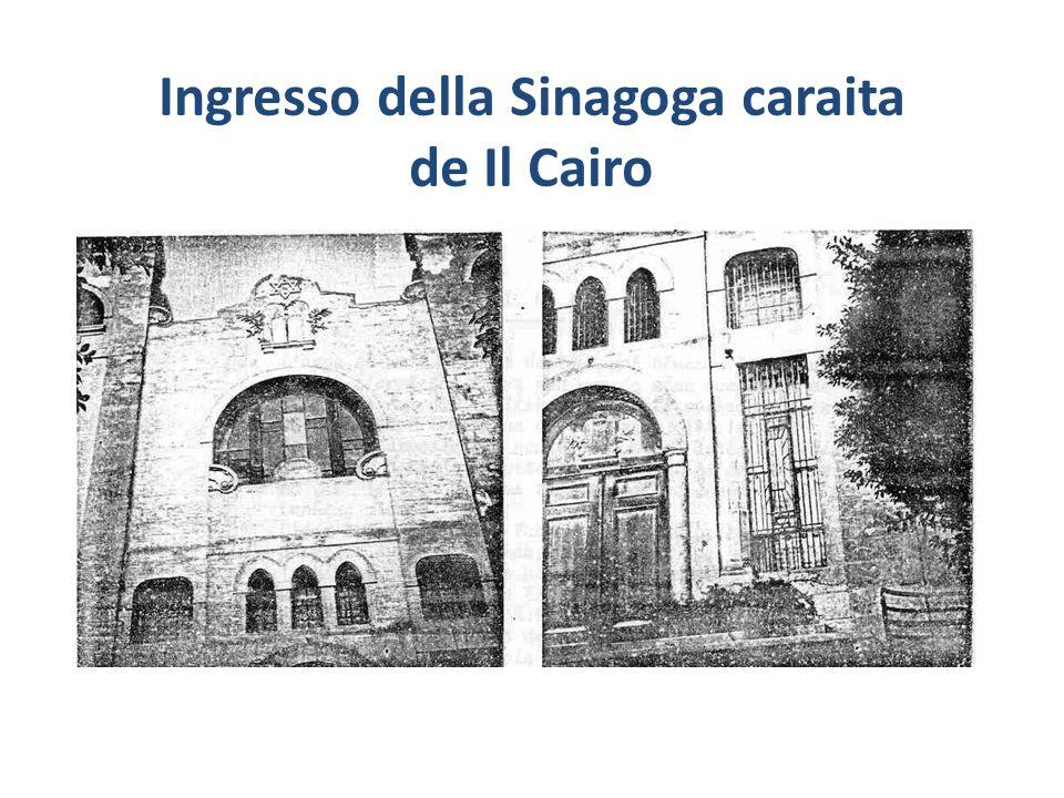 Ingresso della Sinagoga caraita de Il Cairo