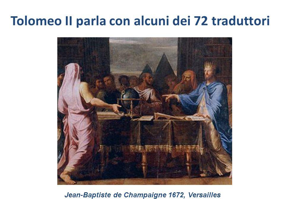 Tolomeo II parla con alcuni dei 72 traduttori Jean-Baptiste de Champaigne 1672, Versailles