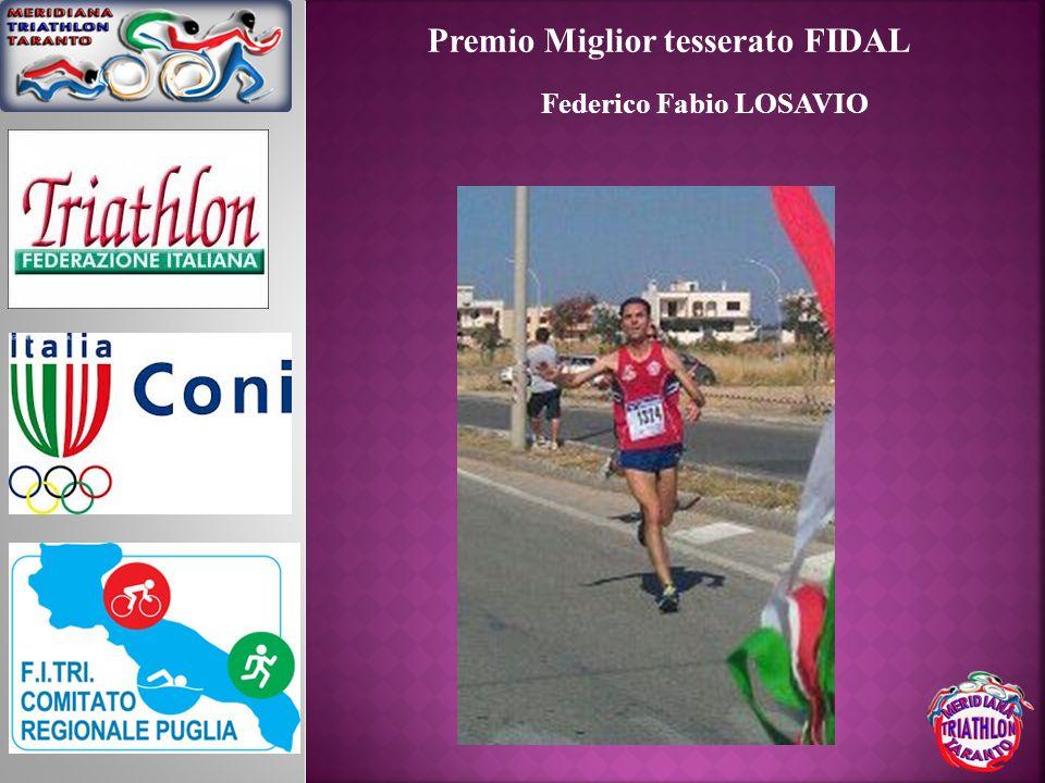Premio Miglior tesserato FIDAL Federico Fabio LOSAVIO