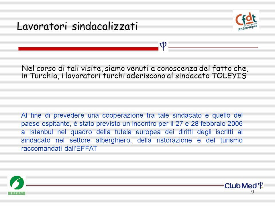 10 Cooperazione tra sindacati Nelle zone alpine si sta sviluppando un turismo internazionalizzato.