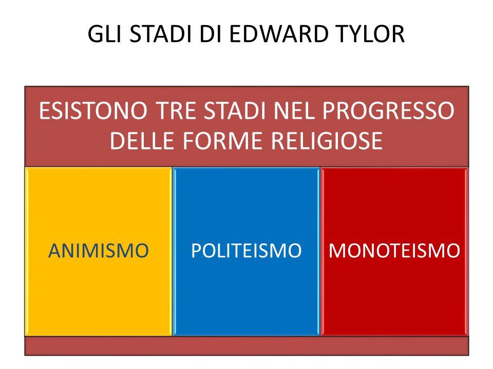 GLI STADI DI EDWARD TYLOR