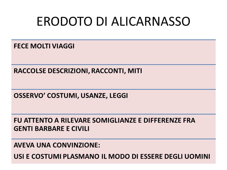 ERODOTO DI ALICARNASSO
