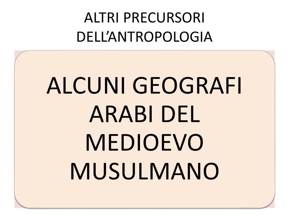 ALTRI PRECURSORI DELLANTROPOLOGIA