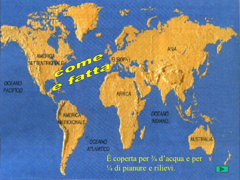 Una linea di separazione immaginaria, detta Equatore, divide la terra in due emisferi: lemisfero nord o boreale, lemisfero sud o Australe.