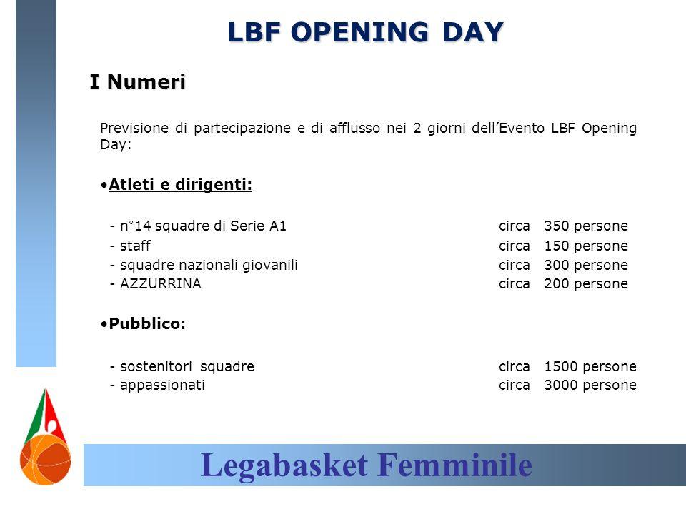 Legabasket Femminile LBF OPENING DAY