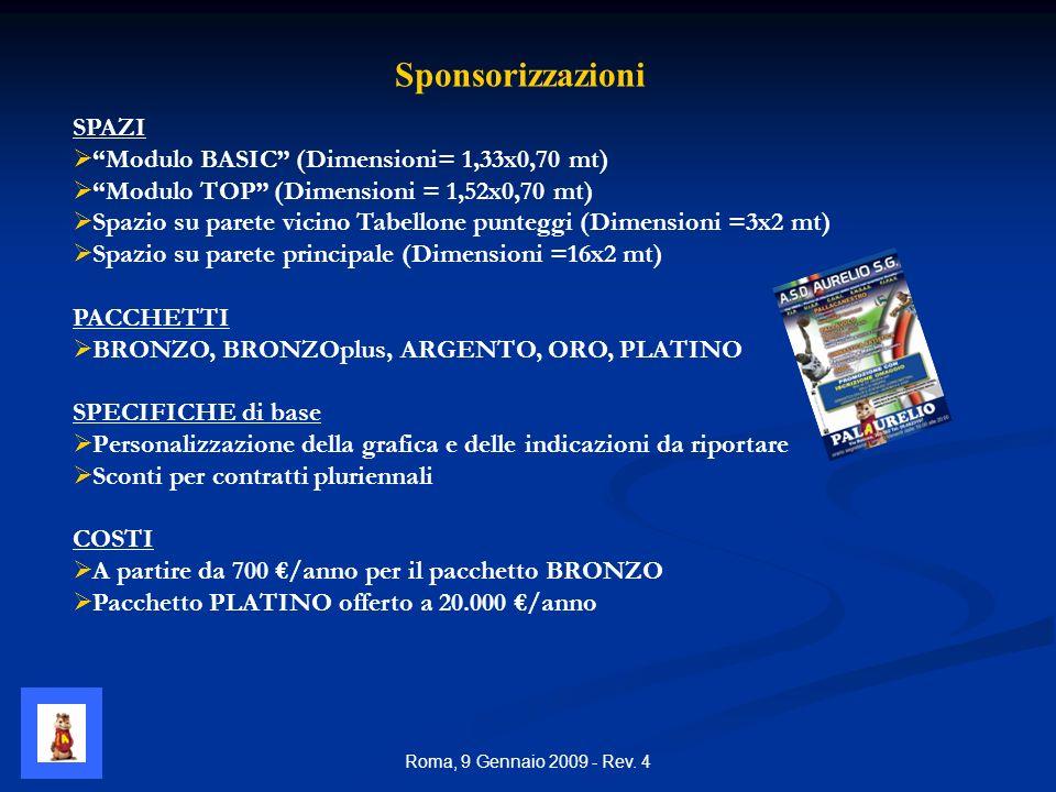 Roma, 9 Gennaio 2009 - Rev.