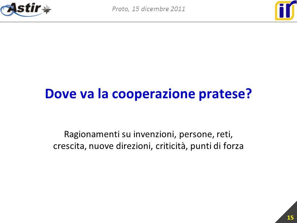 Prato, 15 dicembre 2011 Dove va la cooperazione pratese.