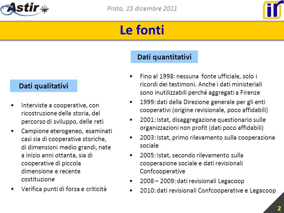 Prato, 15 dicembre 2011 2 Le fonti Fino al 1998: nessuna fonte ufficiale, solo i ricordi dei testimoni.