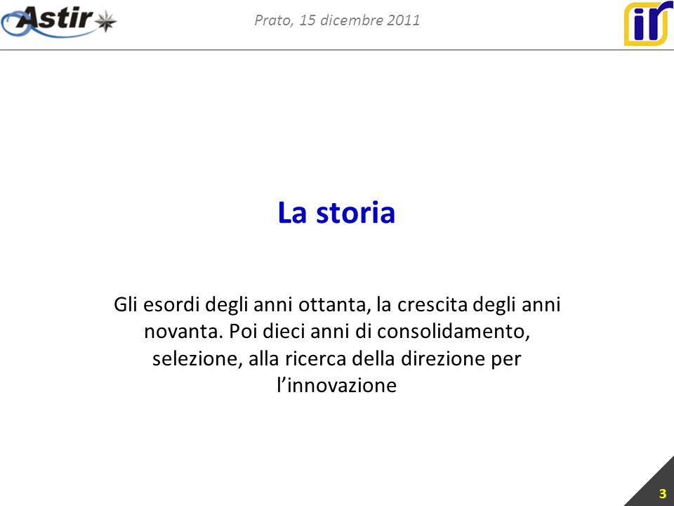Prato, 15 dicembre 2011 La storia Gli esordi degli anni ottanta, la crescita degli anni novanta.