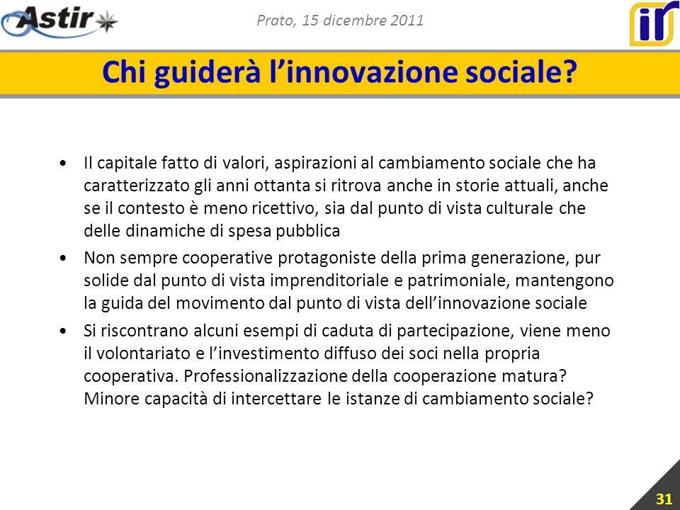 Prato, 15 dicembre 2011 Chi guiderà linnovazione sociale.