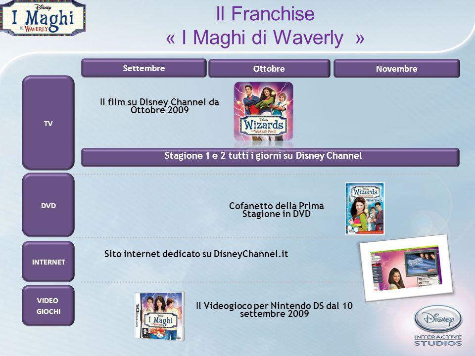 TV DVD VIDEO GIOCHI Il film su Disney Channel da Ottobre 2009 SettembreOttobre Novembre Il Videogioco per Nintendo DS dal 10 settembre 2009 Stagione 1
