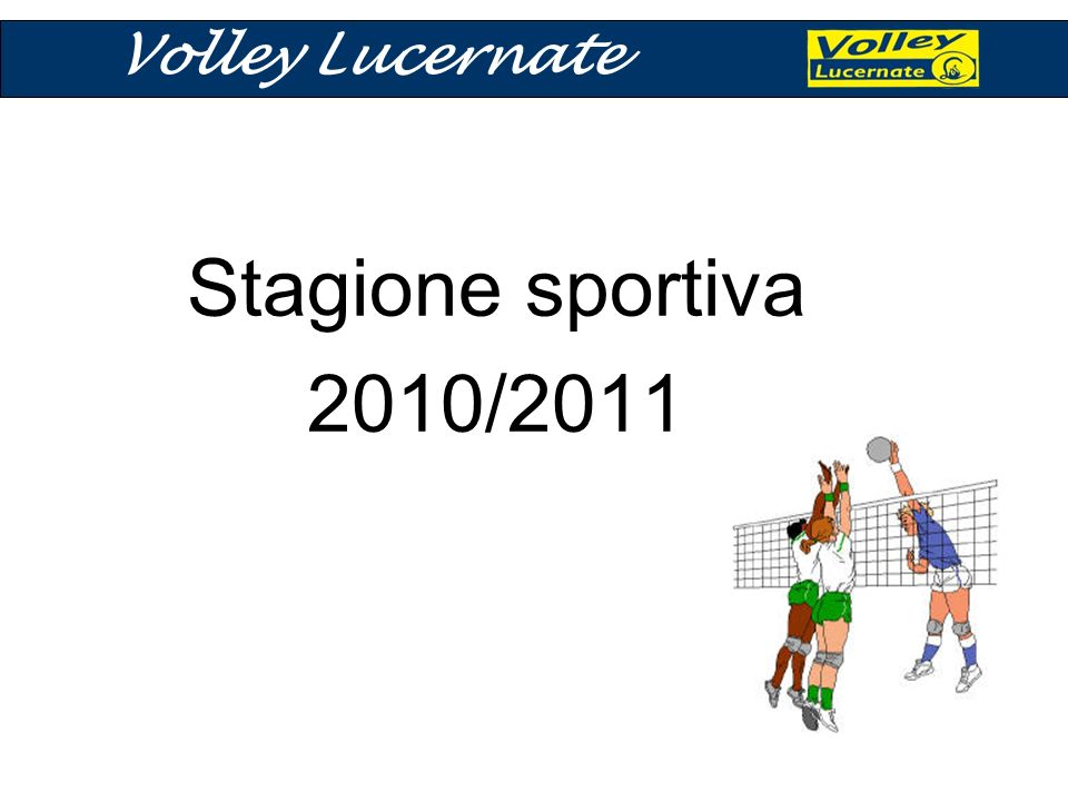 Stagione sportiva 2010/2011 Volley Lucernate