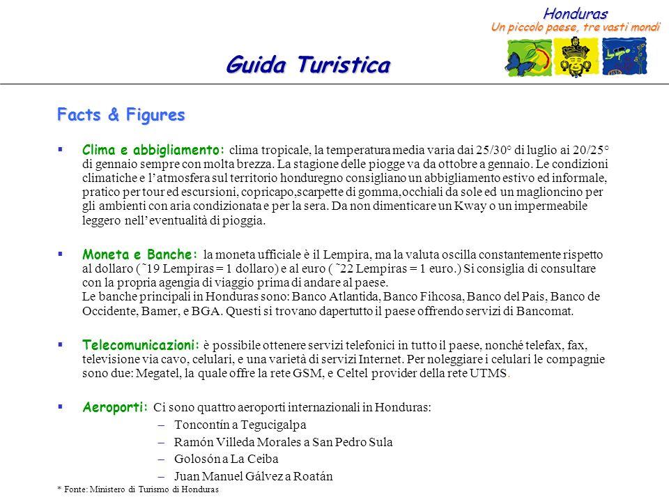 Honduras Un piccolo paese, tre vasti mondi Guida Turistica * Fonte: Ministero di Turismo di Honduras Facts & Figures –Consolati a San Pedro Sula (2/2) 9.Consolato di Francia............................Indirizzo: Col.