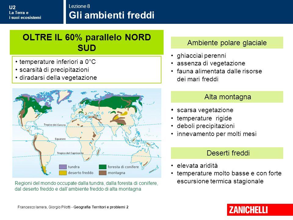 U2 La Terra e i suoi ecosistemi Francesco Iarrera, Giorgio Pilotti - Geografia Territori e problemi 2 ghiacciai perenni assenza di vegetazione fauna a