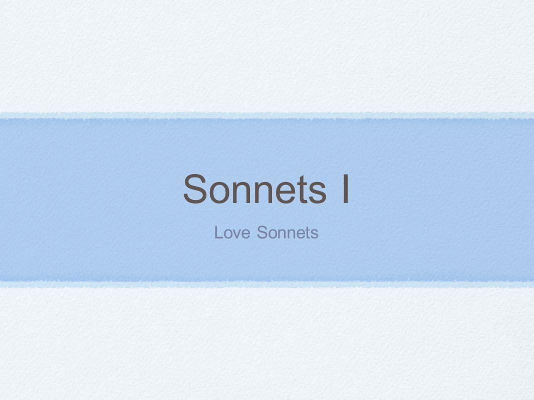 Sonnets I Love Sonnets
