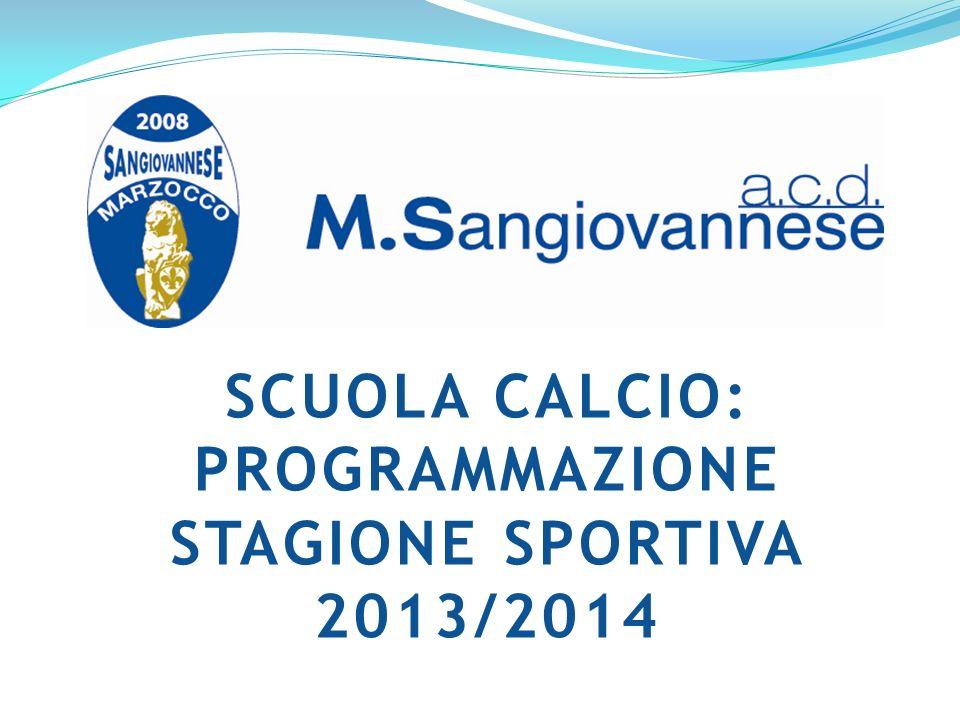 SCUOLA CALCIO: PROGRAMMAZIONE STAGIONE SPORTIVA 2013/2014