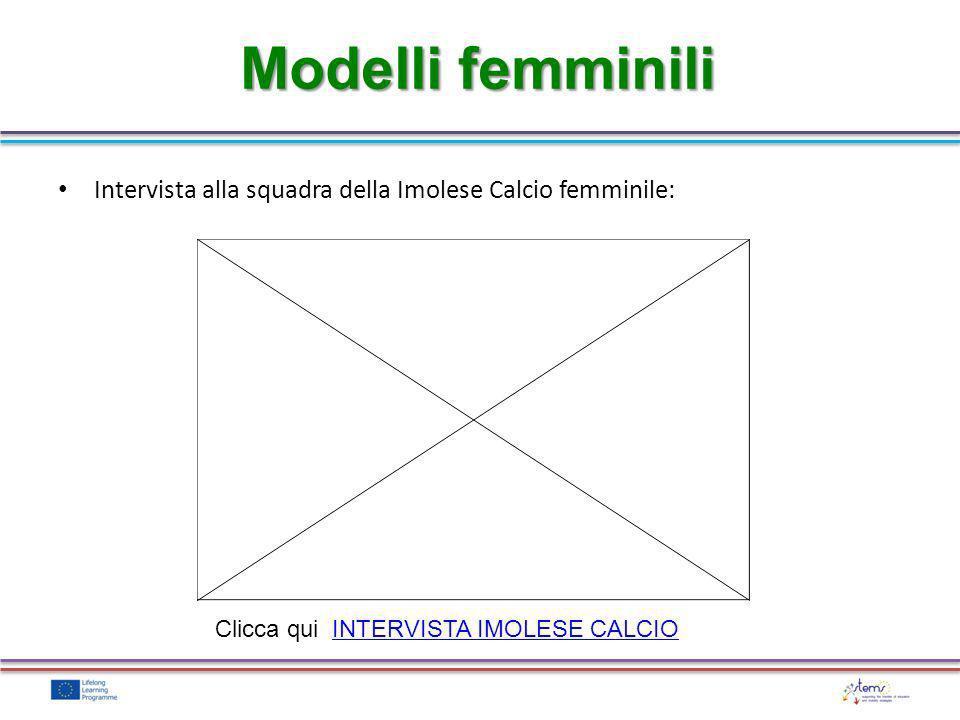 Modelli femminili Intervista alla squadra della Imolese Calcio femminile: Clicca qui INTERVISTA IMOLESE CALCIOINTERVISTA IMOLESE CALCIO