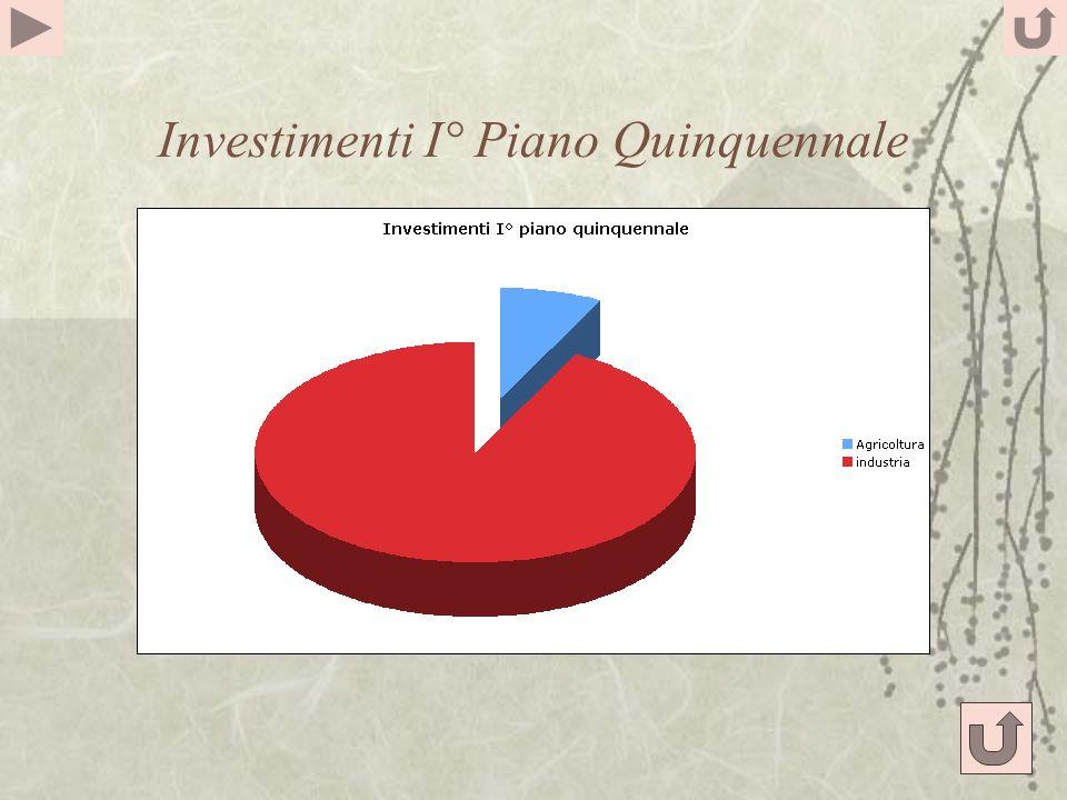 Investimenti I° Piano Quinquennale