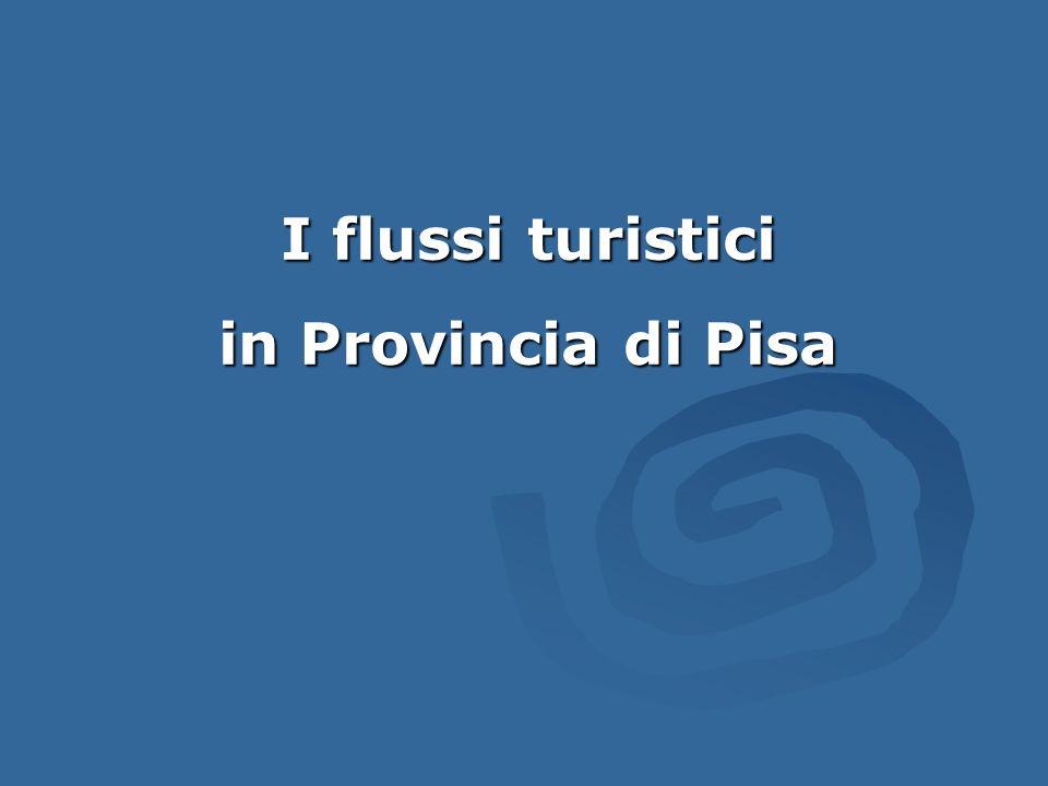 I flussi turistici in Provincia di Pisa