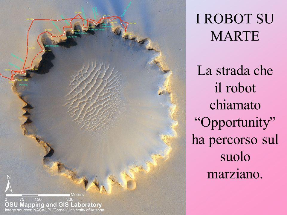 I ROBOT SU MARTE La strada che il robot chiamato Opportunity ha percorso sul suolo marziano.