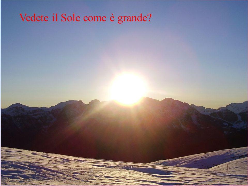 Vedete il Sole come è grande?