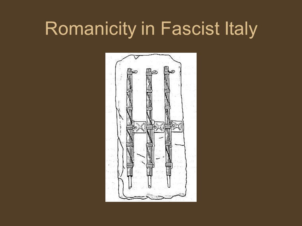 Romanicity in Fascist Italy