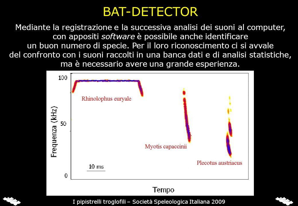 Mediante la registrazione e la successiva analisi dei suoni al computer, con appositi software è possibile anche identificare un buon numero di specie
