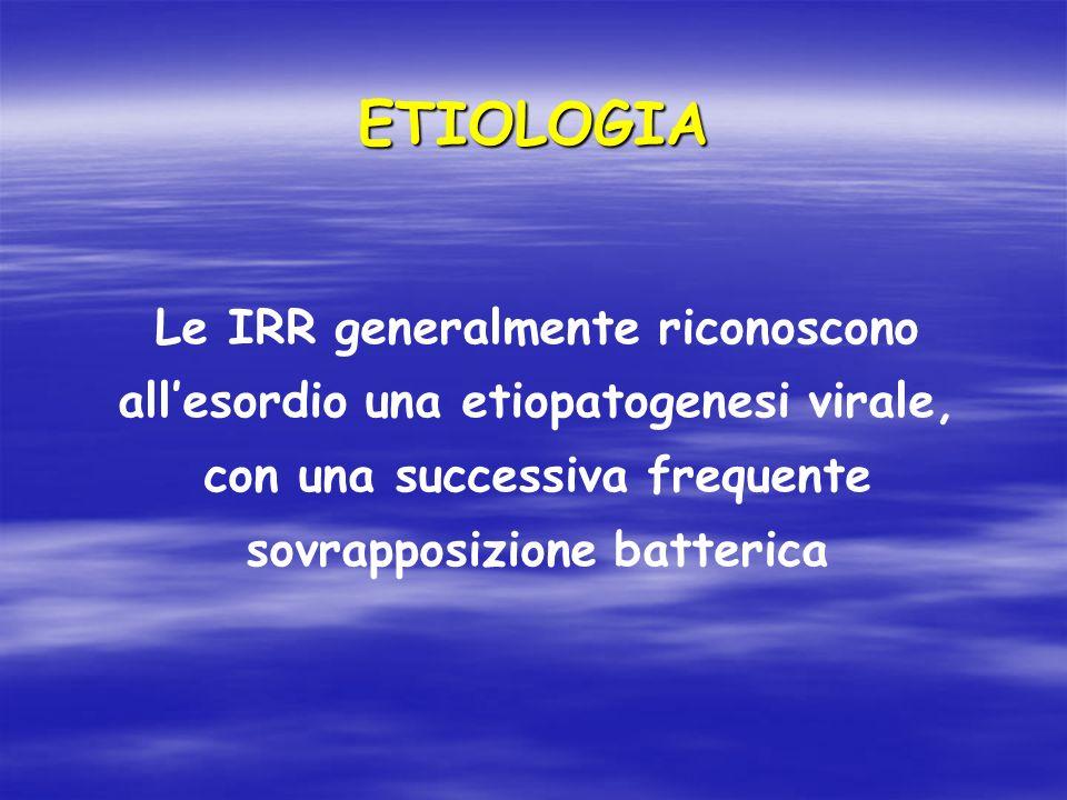 RISULTATI Sono stati analizzati i seguenti parametri: 1.Numero di episodi di Infezioni Respiratorie Acute (IRA) nei 12 mesi di follow up 2.Numero di giorni di febbre nel periodo considerato (12 mesi) 3.Variazione degli indici di flogosi con prelievi eseguiti durante le visite programmate ai seguenti intervalli: T0: visita arruolamentoT0: visita arruolamento T1: dopo 3 mesiT1: dopo 3 mesi T2: dopo 9 mesiT2: dopo 9 mesi T3: dopo 12 mesiT3: dopo 12 mesi
