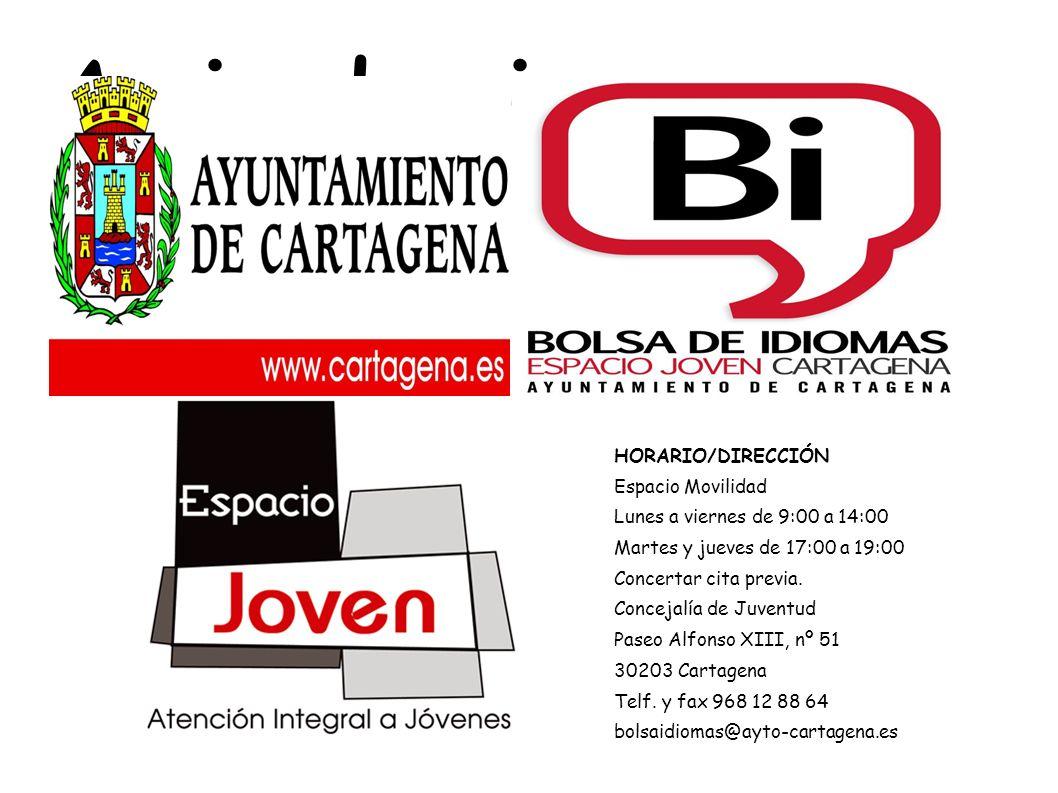 Arrivederci HORARIO/DIRECCIÓN Espacio Movilidad Lunes a viernes de 9:00 a 14:00 Martes y jueves de 17:00 a 19:00 Concertar cita previa. Concejalía de