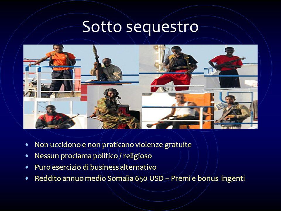 Sotto sequestro Non uccidono e non praticano violenze gratuite Nessun proclama politico / religioso Puro esercizio di business alternativo Reddito ann