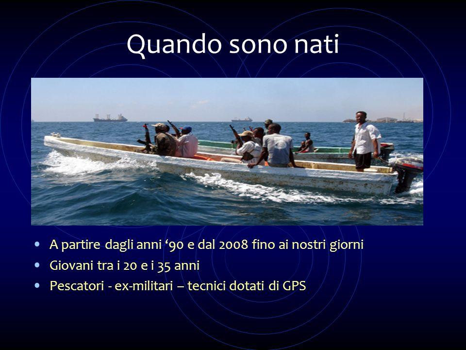 Quando sono nati A partire dagli anni 90 e dal 2008 fino ai nostri giorni Giovani tra i 20 e i 35 anni Pescatori - ex-militari – tecnici dotati di GPS