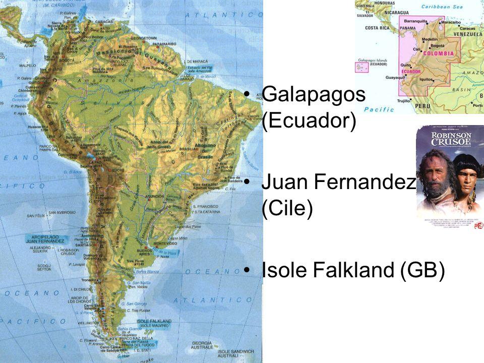 Galapagos (Ecuador) Juan Fernandez (Cile) Isole Falkland (GB)