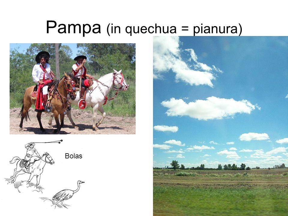 Pampa (in quechua = pianura) Bolas
