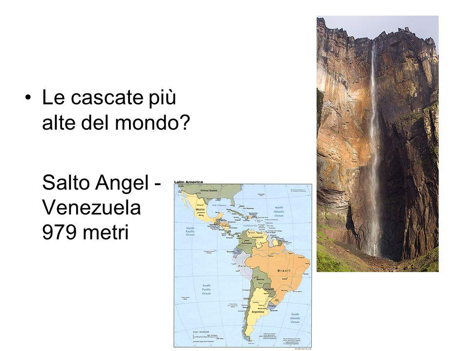 Le cascate più alte del mondo? Salto Angel - Venezuela 979 metri