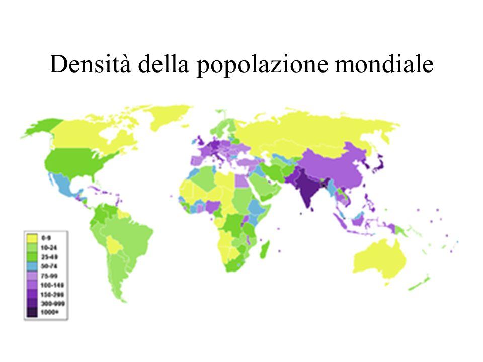 Densità della popolazione mondiale