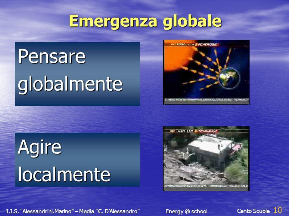 I.I.S. Alessandrini.Marino – Media C. DAlessandroEnergy @ school Cento Scuole 9 Pensare globalmente