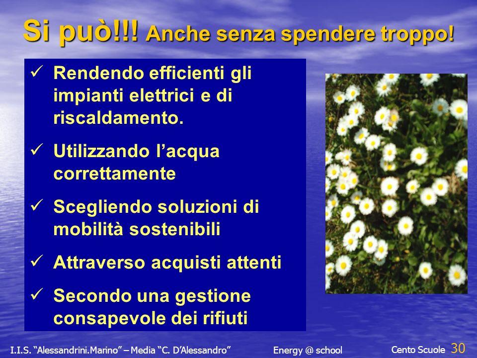 I.I.S. Alessandrini.Marino – Media C. DAlessandroEnergy @ school Cento Scuole 29 Si può!!.