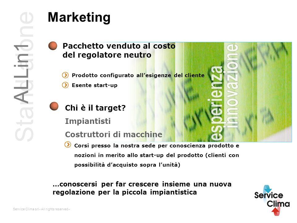 Service Clima srl - All rights reserved - Marketing Pacchetto venduto al costo del regolatore neutro Prodotto configurato allesigenze del cliente Esen