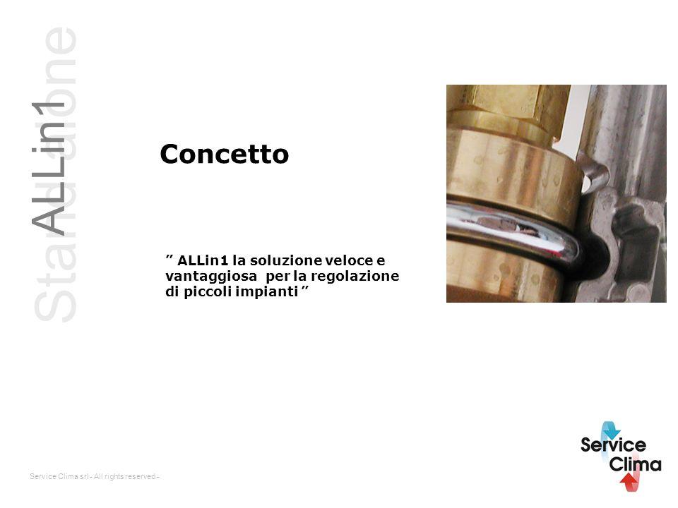 Stand alone ALLin1 Concetto ALLin1 la soluzione veloce e vantaggiosa per la regolazione di piccoli impianti Service Clima srl - All rights reserved -