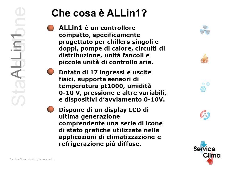 Stand alone ALLin1 Service Clima srl - All rights reserved - Che cosa è ALLin1? ALLin1 è un controllore compatto, specificamente progettato per chille